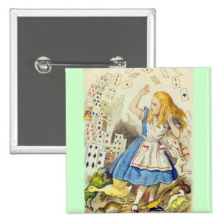 Alice & the Cards Full Color 15 Cm Square Badge