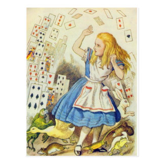Alice & the Cards Full Color Postcard