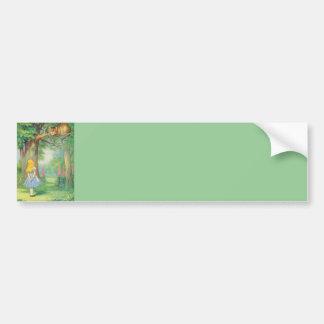 Alice the Cheshire Cat Color Bumper Sticker