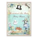 Alice & the Cheshire Cat Wonderland Baby Shower Personalised Invites