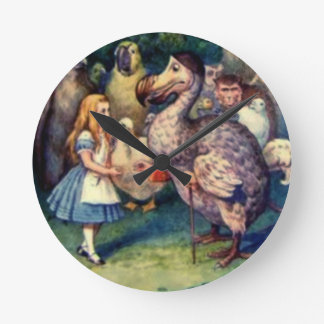 Alice & the Dodo Color Wall Clock