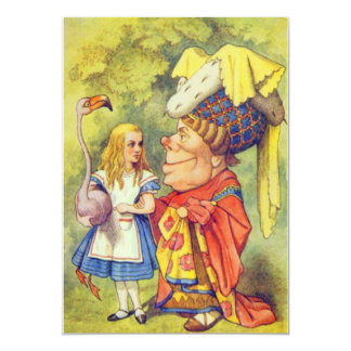Alice & the Duchess Full Color 13 Cm X 18 Cm Invitation Card