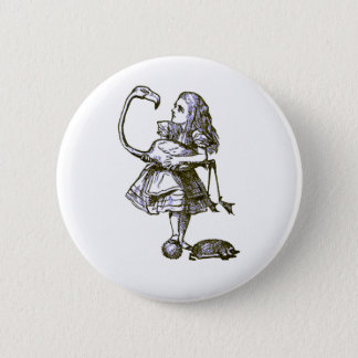 Alice & the Flamingo 6 Cm Round Badge