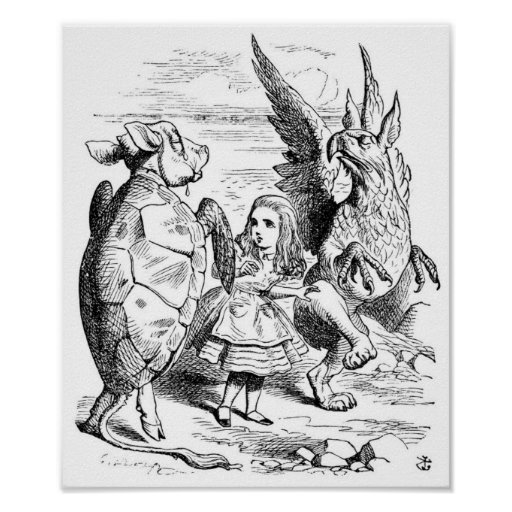 Alice, the Gryphon and the Mock Turtle Dance Poster