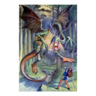 Alice & the Jabberwocky Full Color Poster