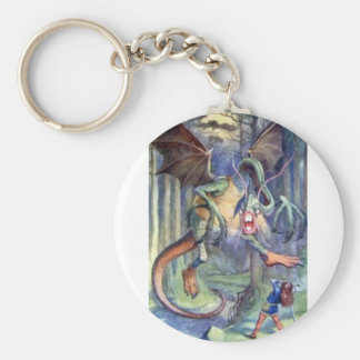 Alice & the Jabberwocky in Full Color Key Ring