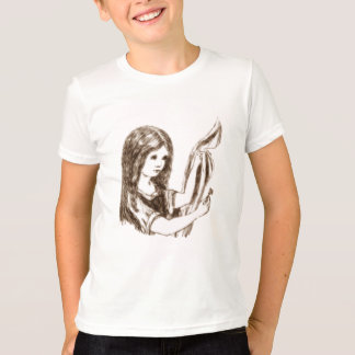 Alice & the Key by Lewis Carroll Sepia Tint T-Shirt