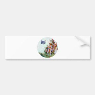 Alice The King of Hearts and the Cheshire Cat Bumper Stickers
