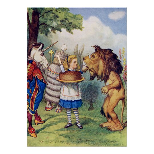 Alice, The Lion and the Unicorn in Wonderaland