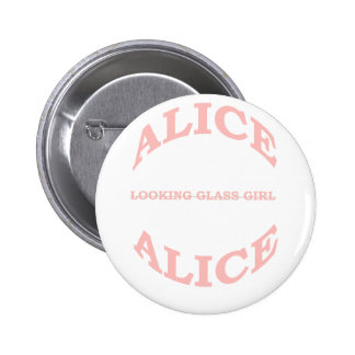 Alice the Looking Glass Girl 6 Cm Round Badge