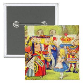 Alice & The Queen 15 Cm Square Badge