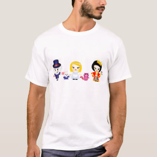 Alice, the Queen and the Mad Hatter T-Shirt