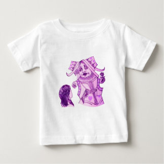 Alice & the Queen by Lewis Carroll Purple Tint Baby T-Shirt