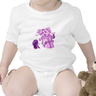 Alice & the Queen by Lewis Carroll Purple Tint Tshirt