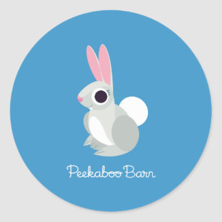 Alice the Rabbit Classic Round Sticker