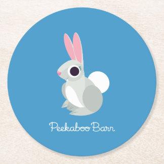 Alice the Rabbit Round Paper Coaster