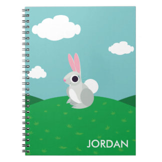 Alice the Rabbit Spiral Notebooks