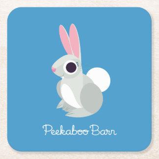 Alice the Rabbit Square Paper Coaster