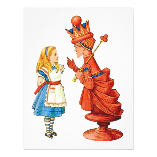 Alice & The Red Queen Personalized Flyer