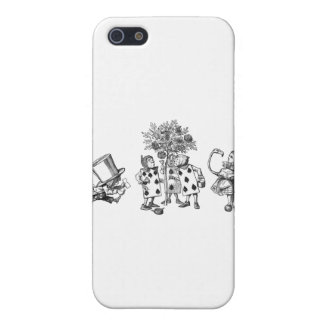 Alice & the Wonderland Gang in Black & White Case For The iPhone 5