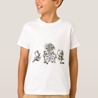 Alice & the Wonderland Gang in Blue Tint Tshirts