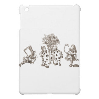 Alice & the Wonderland Gang in Sepia iPad Mini Covers