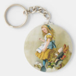 Alice Tips Over Jury Box In Knave of Hearts Trial Basic Round Button Key Ring