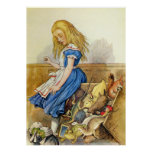 Alice Tips the Jury Box in Wonderland Poster