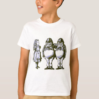 Alice, Tweedle Dee & Tweedle Dum in Blue Tint Tshirts