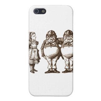 Alice, Tweedle Dee & Tweedle Dum in Sepia iPhone 5 Cover