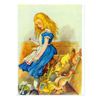 Alice Upsets the Jury Box Color Post Cards