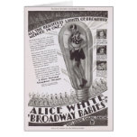 Alice White Broadway Babies movie ad Greeting Card