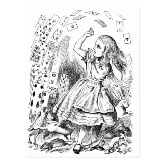 Alice with Cards Post Card