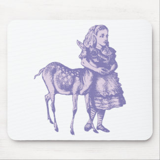 Alice with Fawn Inked Lavender Mouse Pad