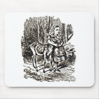 Alice With Fawn Mouse Pad
