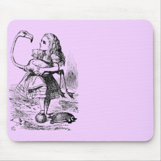 Alice with Flamingo Mousepad
