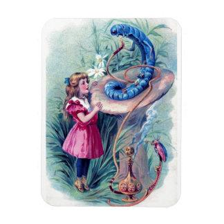 Alice with Hookah Smoking Caterpillar Rectangular Photo Magnet