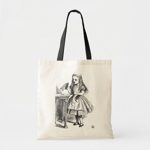 """Alice with the """"Drink Me"""" Bottle Bag"""