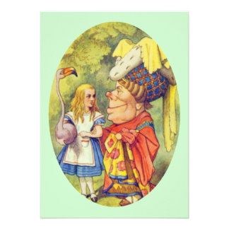 Alice with the Duchess Personalized Invitations