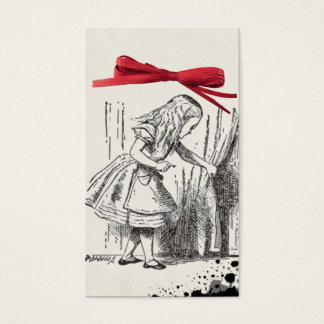 alice wonderland gift tag