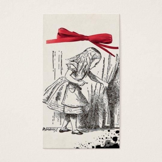 alice wonderland gift tag business card