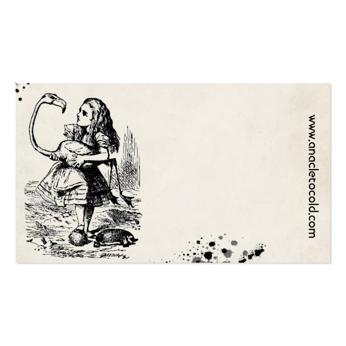 alice in wonderland tags template - alice wonderland gift tag business card template