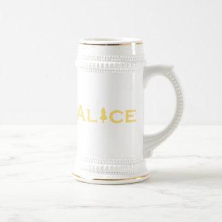Alice Word Play Beer Stein