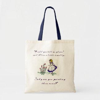 Alice's Adventures in Wonderland - Roses Budget Tote Bag