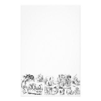 Alice's Adventures in Wonderland Stationery Design