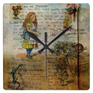 Alice's Adventures Square Wallclock