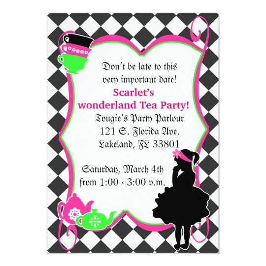 Alice's Mad Tea Party Invite