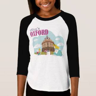Alice's Oxford Girls' Raglan T-Shirt, White/Black T-Shirt