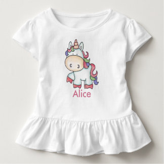 Alice's Personalized Unicorn Gifts Toddler T-Shirt
