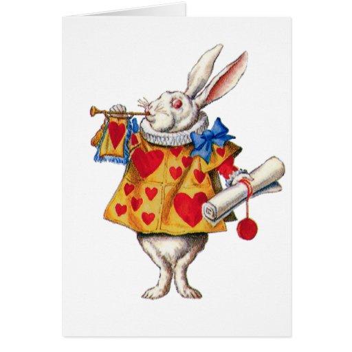 ALICE'S WHITE RABBIT IN WONDERLAND GREETING CARDS